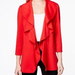 Calvin Klein red blazer size 4